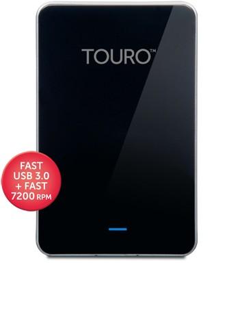 Touro Mobile Pro 500 GB externe Festplatte schwarz HGST HDD USB 3.0 7200 RPM bulk 0S03108
