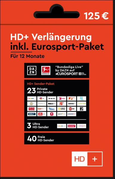 HD+ Verlängerunger inkl. Eurosport Vorne