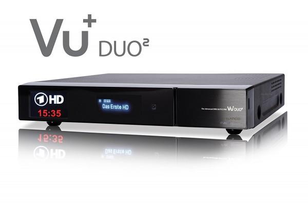 VU+ DUO² 1x DVB-S2 Dual Tuner Full HD 1080p Twin Linux Receiver PVR Ready schräg rechts oben
