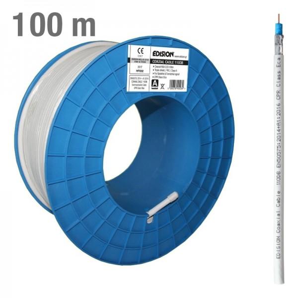 Edision 110dB Koaxialkabel 100m CCS weiß