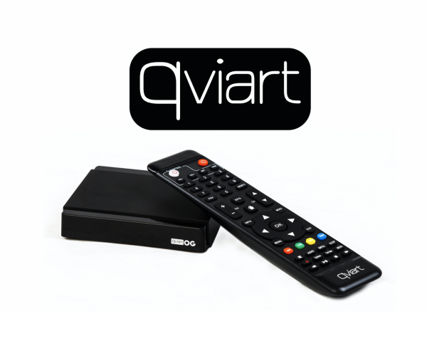 QVIART OG 1080P FULL HD LINUX-OS MEDIAPLAYER OTT BOX H.265 VP8