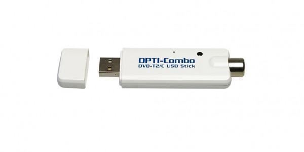 Optimuss-Combo DVB-C /T2 USB STICK TUNER für Kabel und DVB-T Empfang auf Linux Receiver und PC