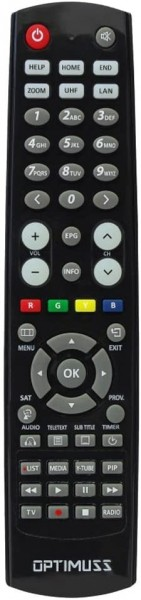 Fernbedienung Edision Optimuss OS1 OS2 OS1+ OS2+ OS3+ neues Modell
