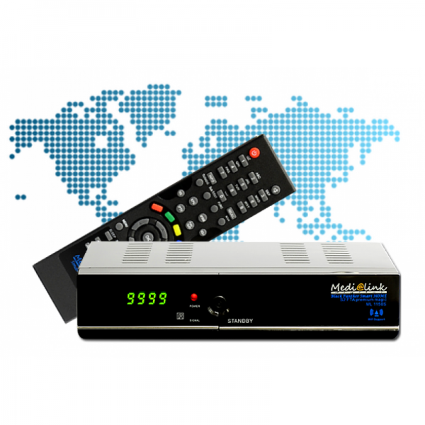 Medi@link/Medialink Smart HOME (DVB-S2+IPTV / Model : ML 1150 S) mit Ethernet und HDMI Kabel