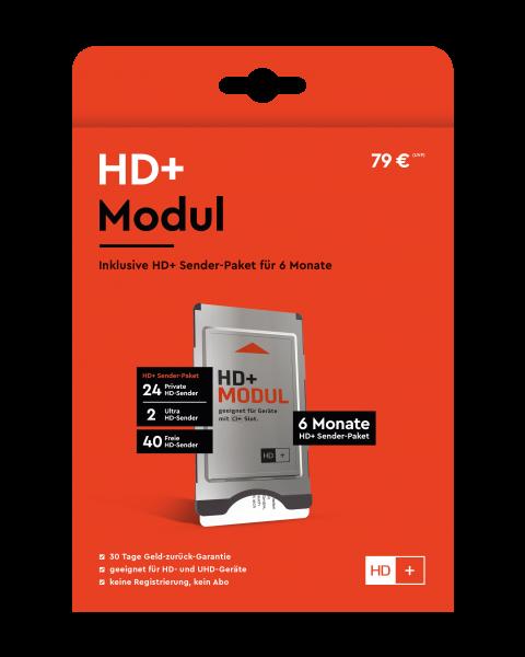HD+ CI+ Modul für 6 Monate (inkl. HD+ Karte, geeignet für HD und UHD, nur für Satellitenempfang)
