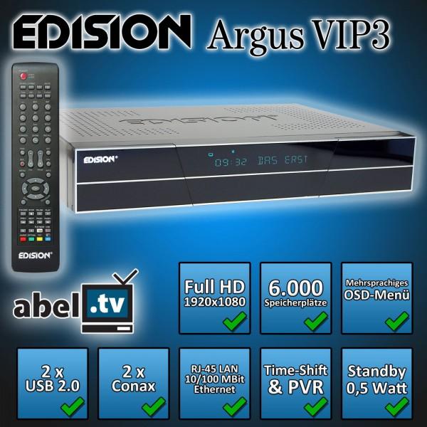 Edision argus VIP3 HDTV Receiver 2x DVB-S2 Tuner