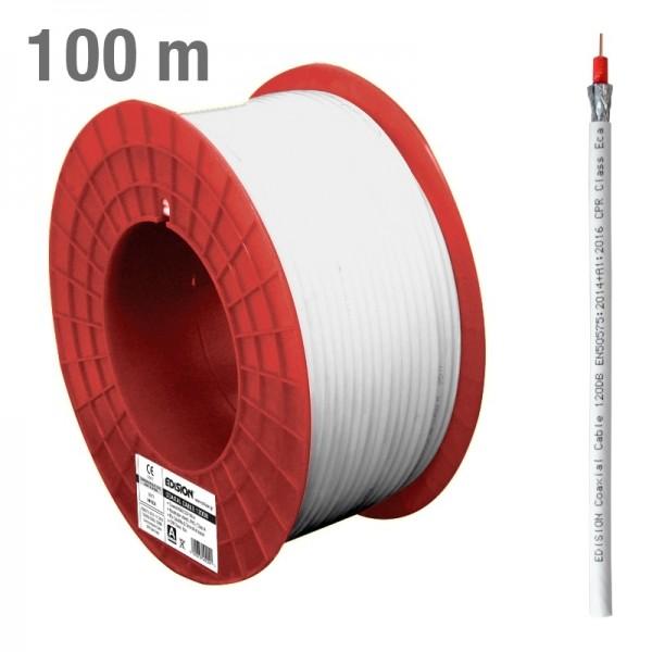 Edision 120dB Koaxialkabel 100m CCS weiß