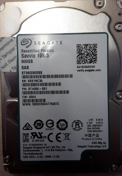 """Seagate 900 GB 2,5"""" Savvio 10K.5 SAS HDD ST9900805SS"""