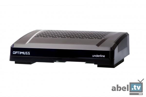 Edision Optimuss underline HD Sat-Receiver schwarz - Frontansicht