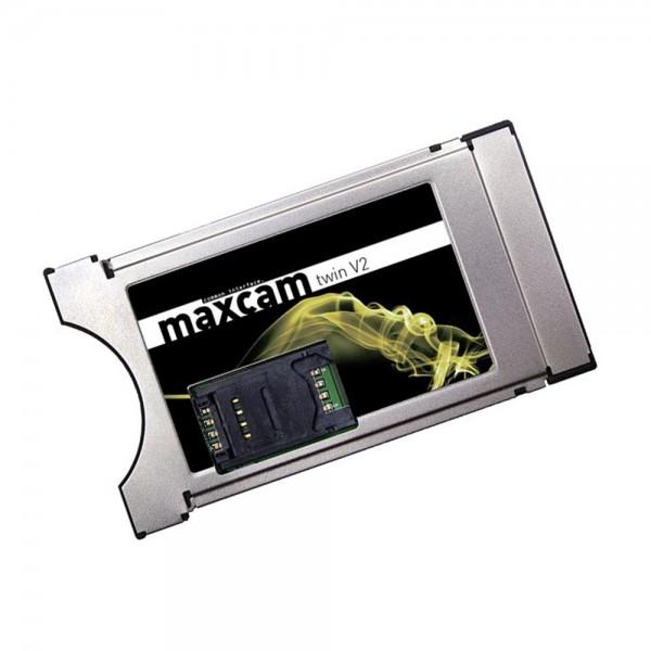 Maxcam Twin V2 CI Modul mit Smartcard und SIM Slot DGCrypt