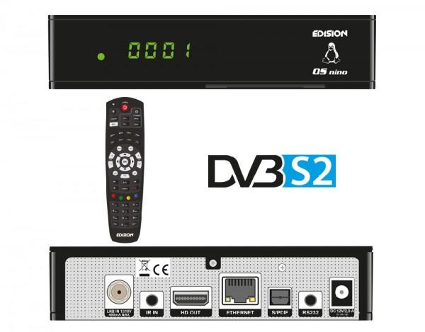 Edision OS NINO DVB-S2 Übersicht