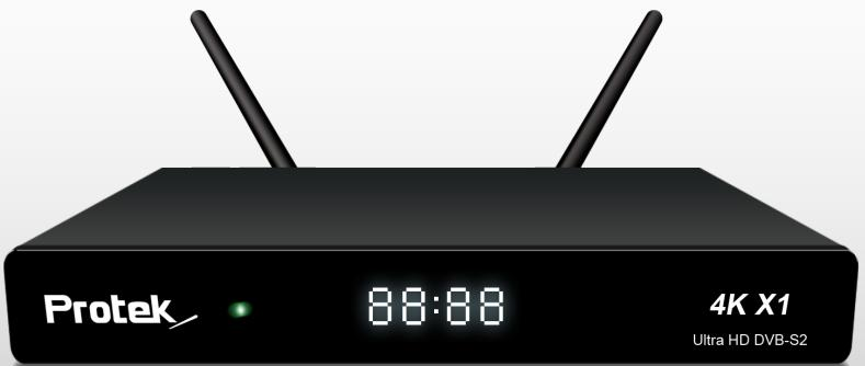 Protek 4k X1 UHD Sat-Receiver 1x DVB-S2 Tuner Linux E2 Receiver OATV