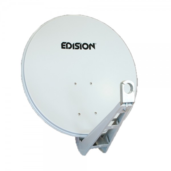 Edision Satelliten Spiegel SUPER HD HQ ALU 80 cm weiß/hellgrau