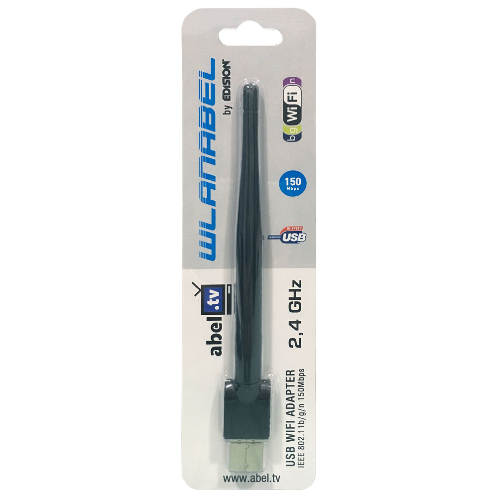 Wlanabel Wlan Stick by Edision 150 Mbps IEEE 802.11 b/g/n mit Antenne