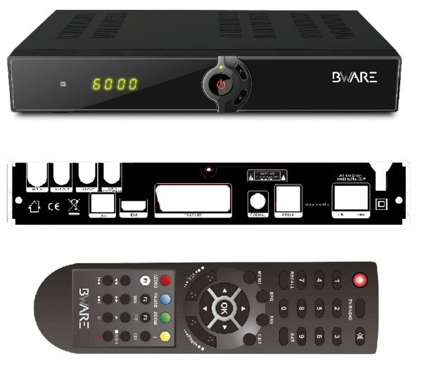 BEWARE Combo HD digitaler DVB-S2 Satelliten Receiver und DVB-T Tuner 2in1