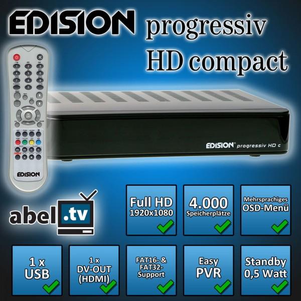 Edision progressiv HD compact DVB-S2 schwarz