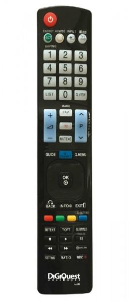 DigiQuest Fernbedienung für LG-Geräte (TV, LCD, LED, PLASMA, 3D, 4K)