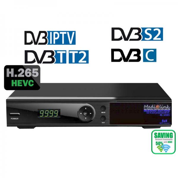 Medialink Multimediabox Smart Home S2 Card Premium H265 ML6500 DVB- S / T/ C