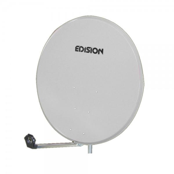 Edision Satelliten Spiegel Stahl 80cm weiß/hellgrau