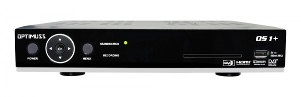 Edision Optimuss OS1+ Plus Linux HD Sat Receiver - Frontansicht