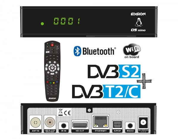 Edision OS NINO DVB-S2 + DVB-T2/C Übersicht