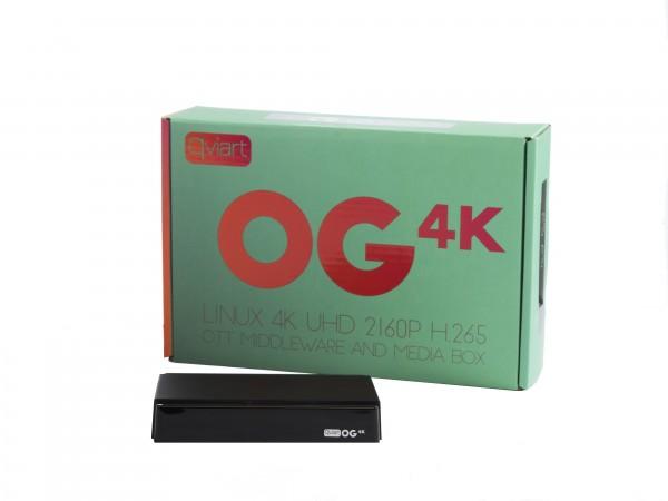 QVIART OG 4k Linux UHD 2160p H.265 OTT Middleware Media Box