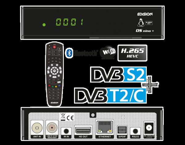 OS NINO+ DVB-S2 + DVB-T2/C Übersicht