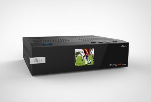 Axas E4HD 4K Ultra HD Linux HDTV USB 3.0 Wifi Gigabit LAN H265 PIP 1x DVB-S2 + 1x Dual DVB-S2/S2x