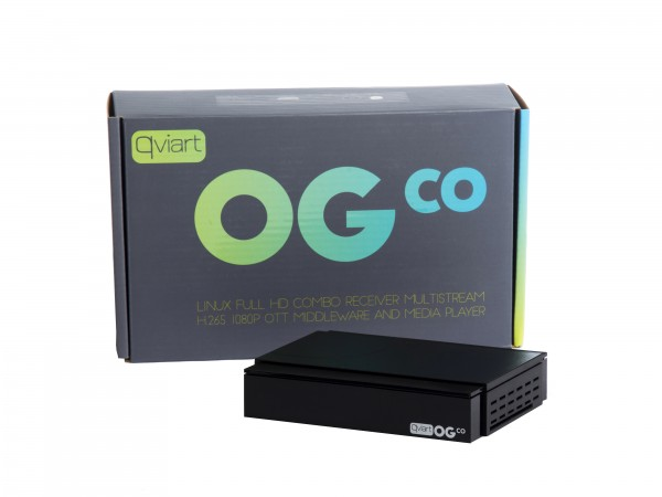 Qviart OGco Linux Full HD Combo-Sat-Receiver Multistream H.265 1080p OTT Middleware Mediaplayer