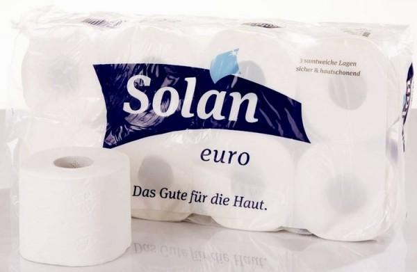 Toilettenpapier Klopapier weiß 3-lagig 8 Rollen je 250 Blatt sicher & hautschonend