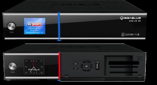 GigaBlue UHD UE 4K Front offen und zu